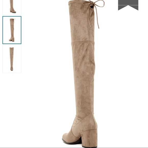 d4d98047dd0 Steven Madden Slayer Over The Knee TaupeFaux Suede